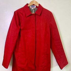 OLD NAVY Bright Red Sz Large Trenchcoat